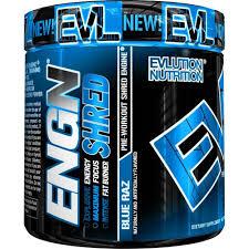 Evlution Nutrition <b>ENGN Shred Pre Workout</b> Powder, Blue Raz, 30 ...