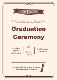 commencement invitations graduation ceremony invitation free graduation ceremony