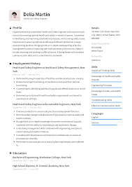 optimal resumes health and safety engineer resume templates 2019 free