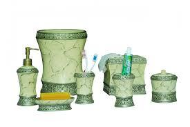 Designer Bathroom Accessories Sets Green Bathroom Set