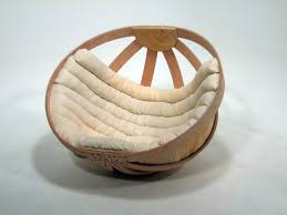 playful half circle papasan chair ikea with wooden frame and plaid pattern  white bolster