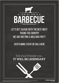 Bbq Poster Join Us For A Bbq Poster Promote Your Pub