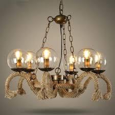 bare bulb chandelier 6 light burlap in brown finish diy bare bulb chandelier