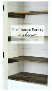 pantry shelves diy rustic wood shelves you can build yourself from