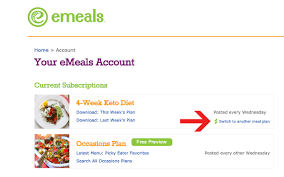 keto meal plan emeals newest weekly