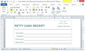 Petty Cash Receipt Template Fascinating Petty Cash Receipt 48 Template Word Uk Theworldtomeco