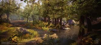 ArtStation - Forest Rock [UE4], Fernando Quinn | Landscape, Nature, Game  design