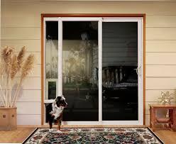 dog door sliding door insert window