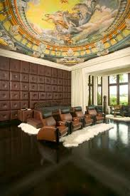 home theater floor lighting. Menomonee Falls Theater Traditional Home And Area Rug Bay Window Brown Leather Cinema Seating Curtain Floor Lighting