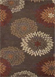 jaipur traverse kyoto hand tufted fl pattern wool art silk brown red area rug