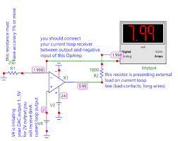 4 20ma current loop microelk moreover if you good operational amplifier low offset voltage bias current and powerful output and could use schematic like that