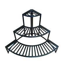 outdoor corner plant stand home and garden folding corner three layer iron plant stand