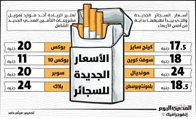 إنفوجرافيك.. أسعار السجائر الجديدة