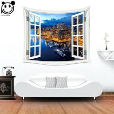 custom wall tapestry new design fake window whole factory custom made home decorative wall tapestry custom custom wall tapestry
