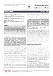 violence against women impact on women sexual and reproductive  violence against women impact on women sexual and reproductive health rights in eastern ia pdf available