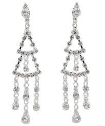 statement bouquets chandelier drop clip on earrings