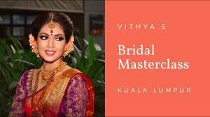 kuala lumpur bridal mastercl vithya hair and makeup artist
