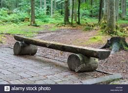 furniture made from tree trunks. Wooden Bench Made Of Tree Trunks In City Park Furniture From C