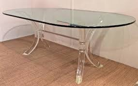 hollywood regency lucite dining table with oval glass top by charles hollis jones for lucite dining table l62