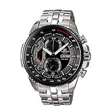 casio watches men debenhams casio men s silver edifice stainless steel black dial watch ef 558d