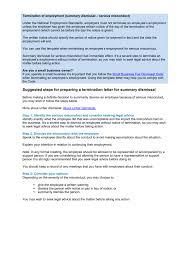 Termination Of Employment Misconduct Summary Dismissal