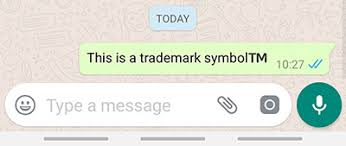 Trademark Symbol Copy Paste Why Does Trademark Symbol On Whatsapp For Android Come Out