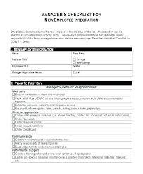 Staff Orientation Checklist New Employee Orientation Program Template New Hire Orientation