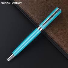 monte mount elegant sky blue business writing best gel pens gifts luxury writing cute roller ball pen refill gift