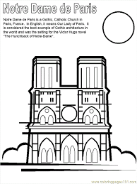 Paris France Coloring Pages Free Printable Coloring Page Notre