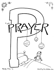 Coloring Pages P Is For Prayer Bible Alphabet Coloring Page