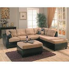 harlow right l shaped two tone sectional sofa by coaster furniture
