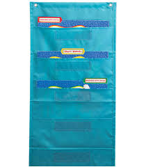 File Folder Storage Teal Pocket Chart Classroom