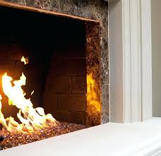 gas fireplace glass rocks living room with regard to modern cleaner diy moder