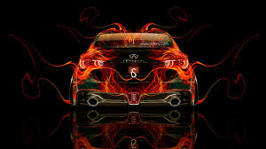 infiniti q50 back fire abstract car
