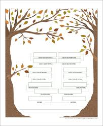 Sample Of Family Tree Chart Sample Blank Family Tree 8 Examples In Word Pdf