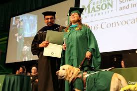 service dog awarded honorary diploma schar school of policy and  service dog awarded honorary diploma tiffany jolliff and railey