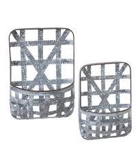 ganz whitewashed galvanized metal woven