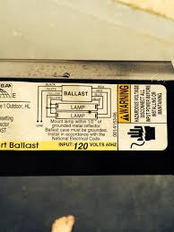 2 t12 ballasts to 1 t8 ballast running 4 fluorescent bulbs attached images