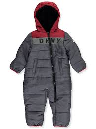 Dkny Baby Size Chart Dkny Baby Boys Hood Block Insulated 1 Piece Snowsuit
