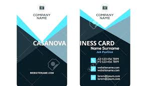 Double Sided Business Card Template Word Print 2 Cards Unique Image