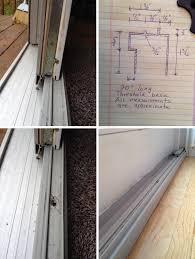 sliding glass door threshold base