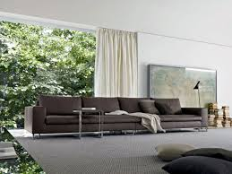 brown couch with grey pillows and curtain ideas for modern living room design