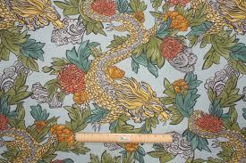 robert allen ming dragon printed cotton dry fabric in aquatint 20 95 per yard