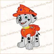 Umizoomi Embroidery Design Paw Patrol Marshall Applique Embroidery Design Machine