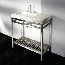 stainless steel bathroom vanity modern with ceramic basin lights