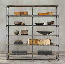 industrial look furniture. view in gallery industrial shelving from restoration hardware look furniture