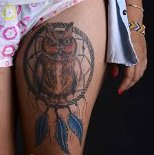 Dream Catcher Tattoo Pics 100 Stunningly Dreamcatcher Tattoo on Thigh 88