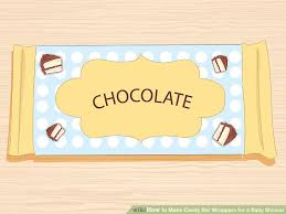 chocolate bar wrappers how to make candy bar wrappers for a baby shower with pictures
