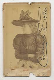 1890's SOCIETY THEATRE ACTRESS CORA URQUHART BROWN-POTTER SIGNED CABINET  PHOTO | #428371353