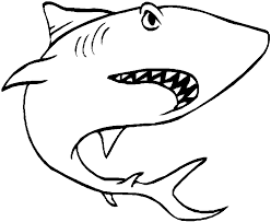 Small Picture Black And White Shark Coloring Page RedCabWorcester